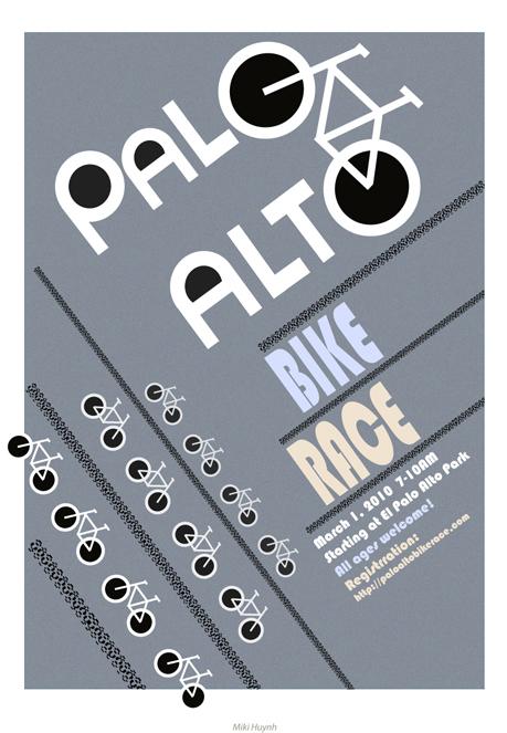 Palo Alto bike race poster