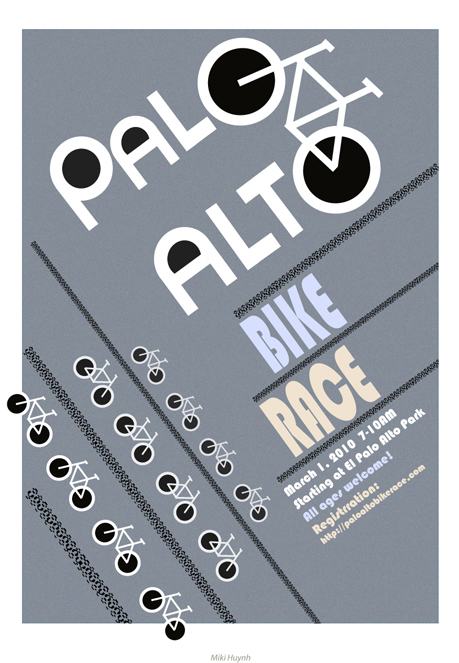 Concept Poster: Palo Alto Bike Race
