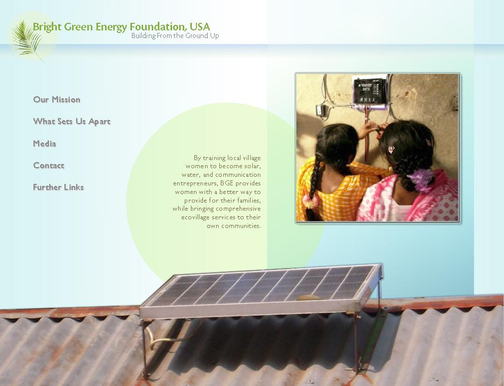 Bright Green Energy website