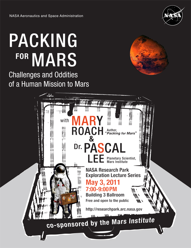 Event Poster: Packing for Mars at NASA Research Park